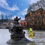 rengöring av Staty